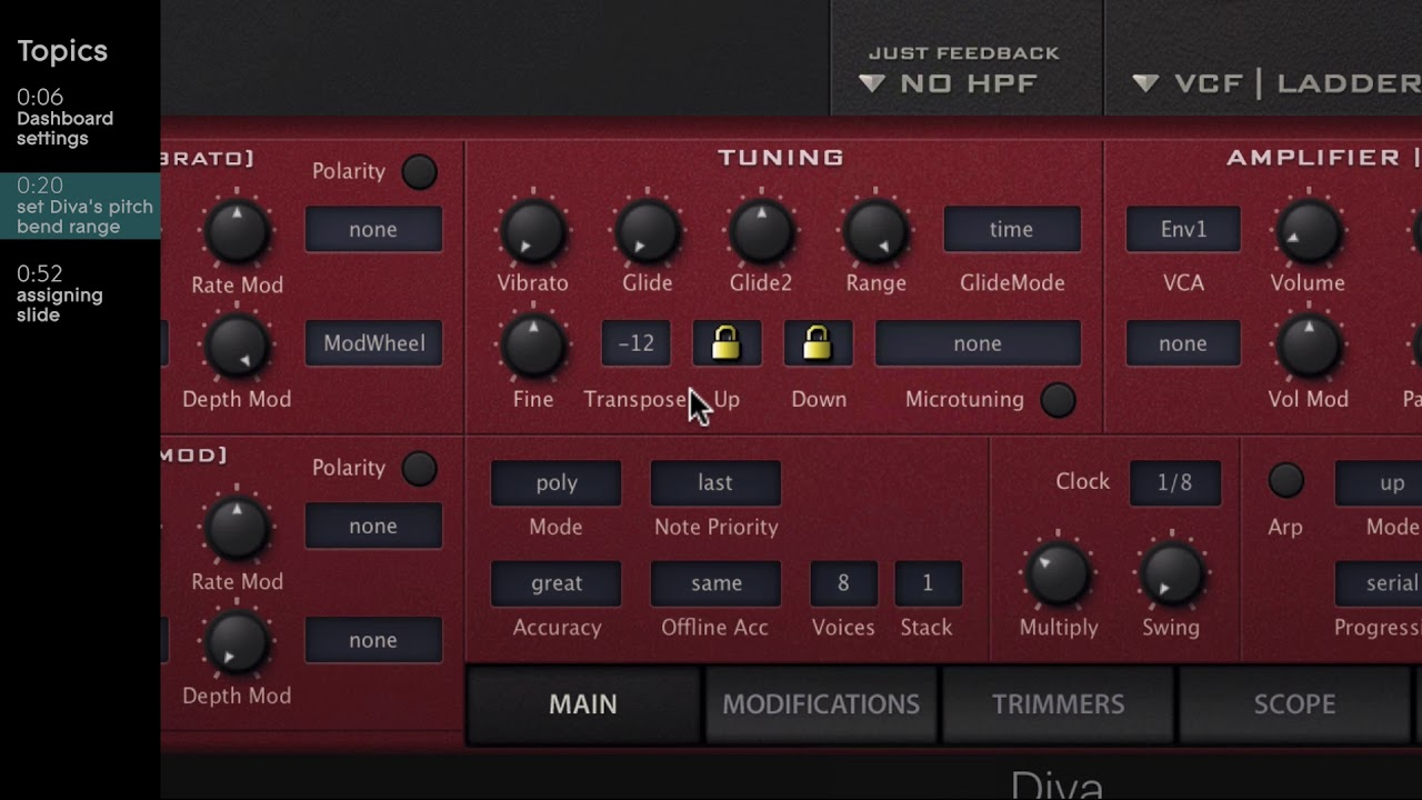 Controlling U-He Diva Plugin with your ROLI instrument