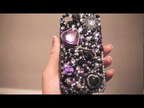 DIY Bling Bling iPhone4 casing - By Cathy Nguyen