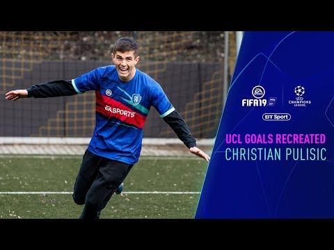 Christian Pulisic imitates his FIFA19-Double   UEFA Champions League Goals Recreated