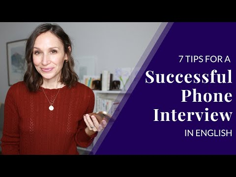 Phone Interview in English [7 Tips for Success]
