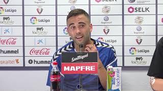 """Rober Ibáñez: """"Tuvimos ocasiones para ganar, pero al final es un punto fuera de casa"""""""