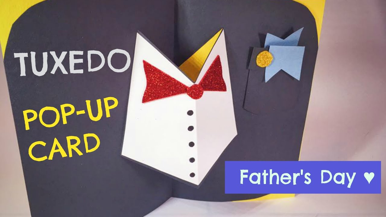 fathers day tuxedo card tuxedo pop up card for s day 燕尾服父親節卡片 ruoximylife 4451