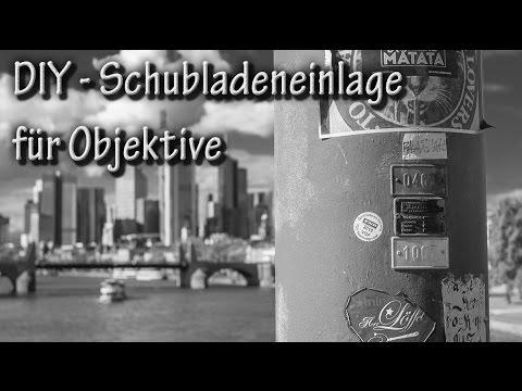 DIY Schubladeneinlage für Objektive