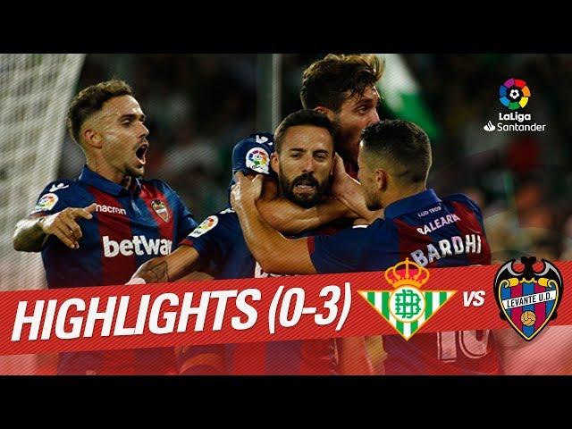 Resumen de Real Betis vs Levante UD (0-3)