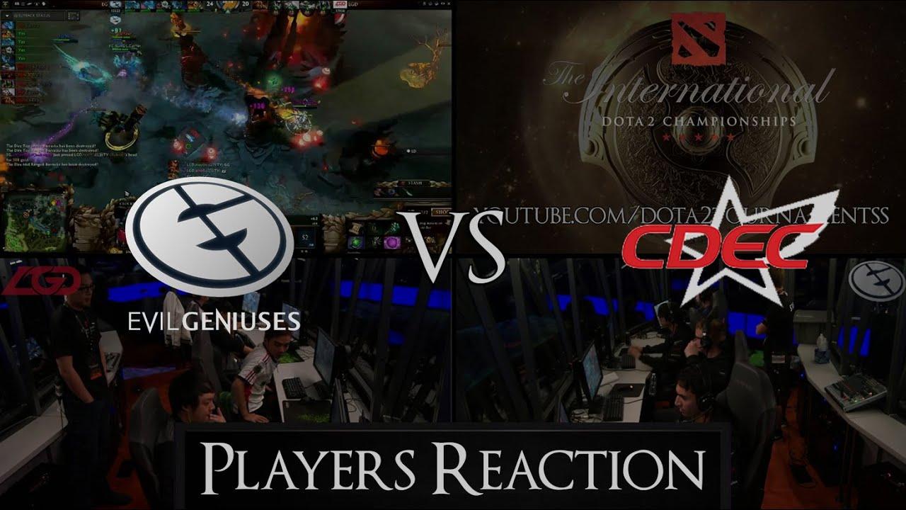 dota 2 ti5 grand final cdec vs eg players reaction youtube