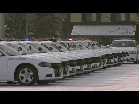 New Indiana State Police troopers receive their patrol cars