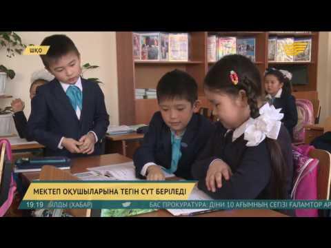 ШҚО-ның Үржар ауданында мектеп оқушылары сапалы сүт өнімдерімен тегін қамтылып отыр