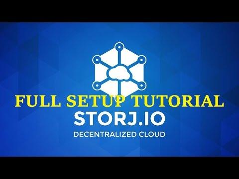 StorJ RENT Your Hard Drive for $$$! Windows GUI Platform Tutorial FULL STEPS ! 17/1/2017 !