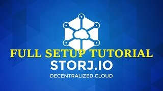 StorJ RENT Your Hard Drive for $$$! Windows GUI Platform Tutorial FULL STEPS ! 17/1/2017 !
