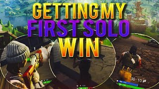 GETTING MY FIRST SOLO WIN😱🔥FORTNITE BATTLE ROYALE🔥**RIP HEADPHONE USERS**