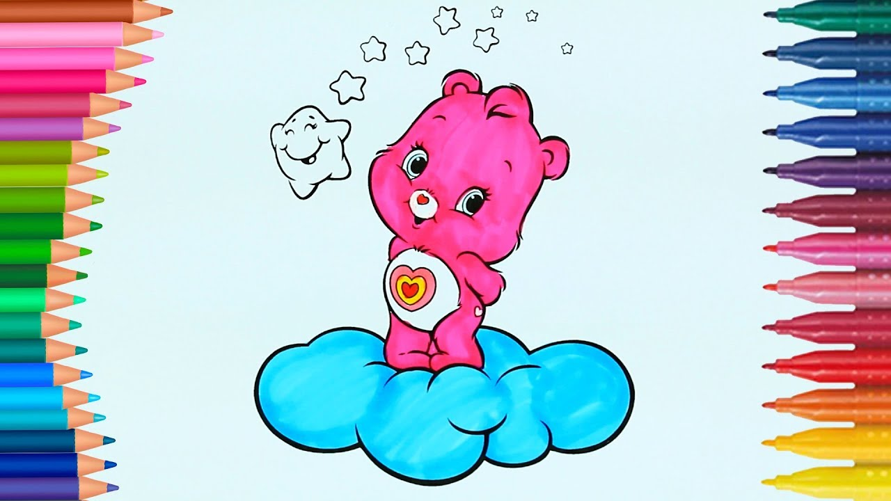 Care Bears How To Draw And Color Coloring Page Little Hands