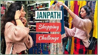 Delhi JANPATH Market SHOPPING CHALLENGE Rs.1000   Style On Budget   Himani Aggarwal