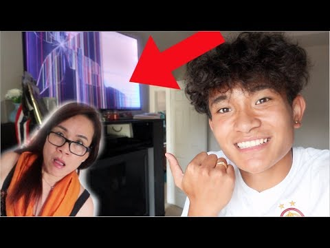 Broken TV Prank On My Mom!?! (HILARIOUS)