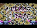 NEW STRATEGY 2019!! 7 MAX PEKKA 3 RAGE DESTROY TH12 WAR BASES!! CLASH OF CLANS