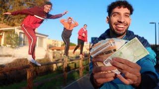 LE DERNIER QUI TOMBE DU POTEAU GAGNE 1000€ ! - Challenge (Epreuve KOH-LANTA)