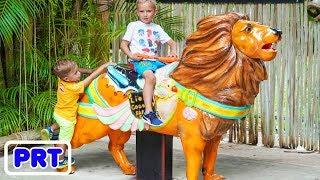 Vlad e Nikita Kids brincadeiras engraçadas no Parque de Safari
