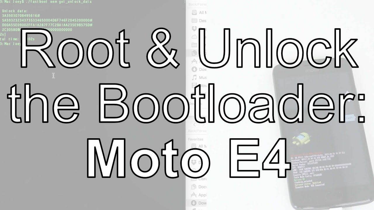 Root & Unlock Bootloader Motorola Moto E4 7 1 1 Android Nougat Windows &  Mac [Magisk/phh]
