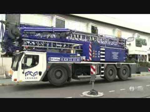 Как собирают башенный кран или автокран!