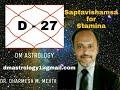 D-27 Saptavishamsa for stamina by Dr Dharmesh M Mehta