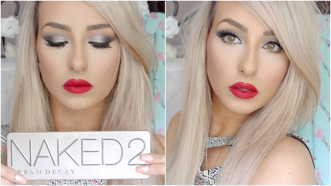 Makeup eye dramatic with red lipstick exclusive photo