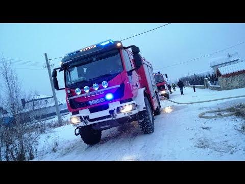 Alarmowo Z Wodą I Po Wodę 8 Zastępów - Pożar Budynku Garażowego W Gołaszynie