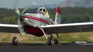 Air Tractor 802 SEAT Retardant Loading & Take-off