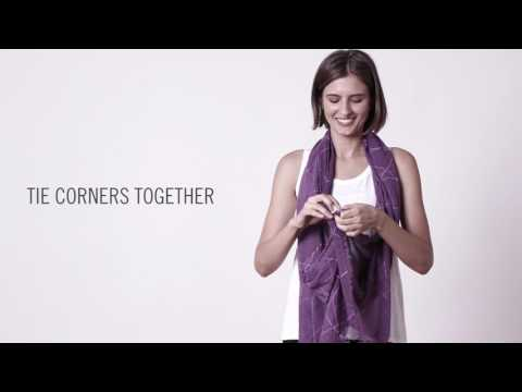 How To Tie A Scarf: EILEEN FISHER June 2017