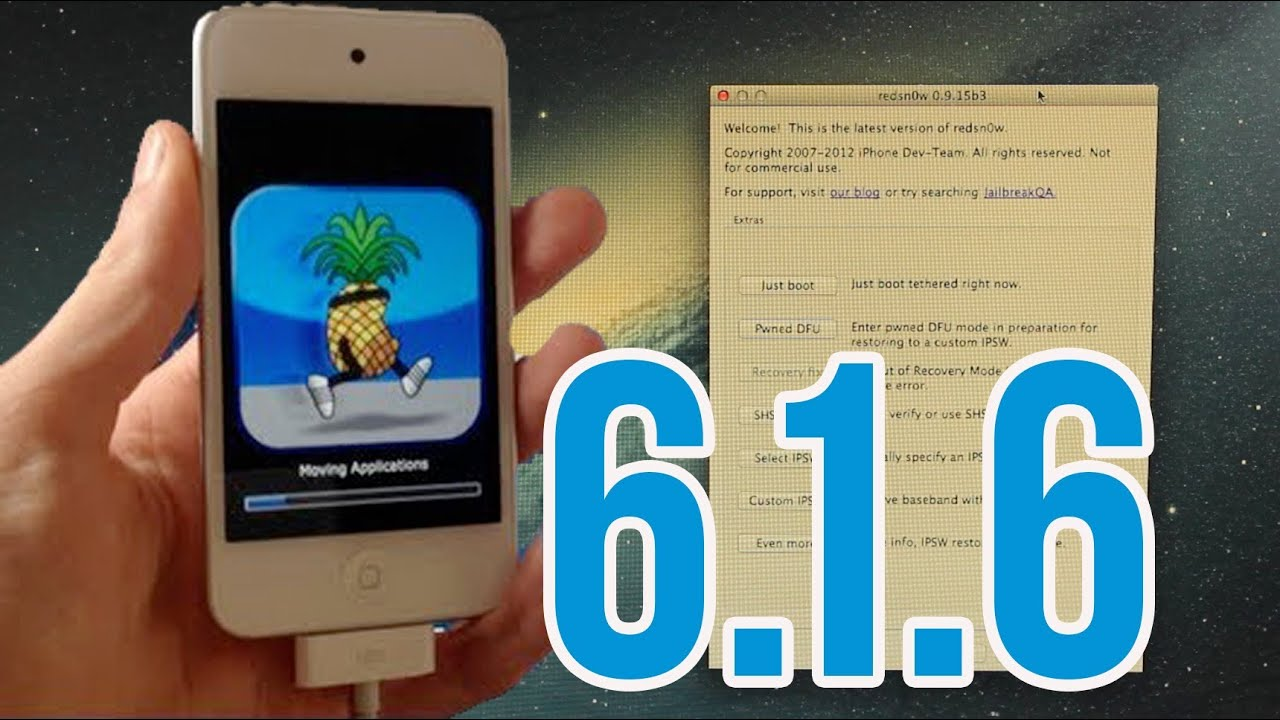 iOS 6.1.6 : Jailbreak Untethered pour iPod touch 4G et iPhone 3GS ...