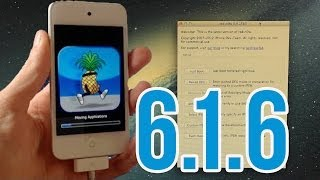 iOS 6.1.6 : Jailbreak Untethered pour iPod touch 4G et iPhone 3GS avec Redsn0w + p0sixspwn