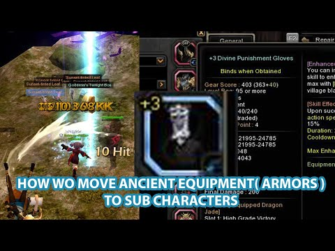 How To Transfer Ancient Equipment To Sub Characters | Dragon Nest SEA