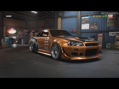 Need for Speed Payback - Eddie's Nissan Skyline GTR R34 - Customization & Gameplay