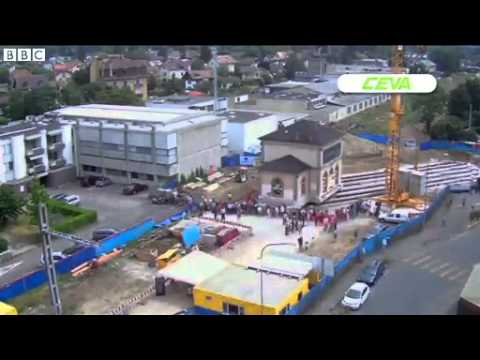 Swiss railway station relocated by engineers
