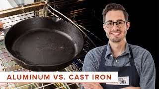 The Science of Heat Conduction in Aluminum and Cast-Iron Pans