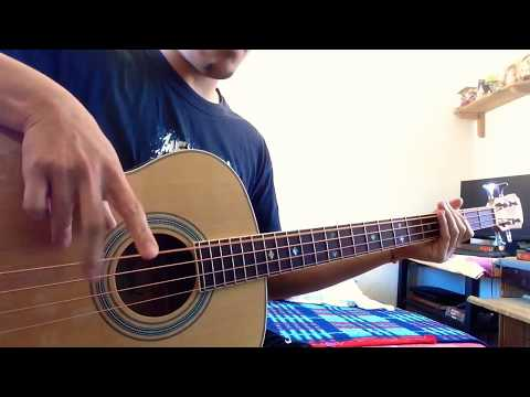"""American Life"" in Acoustic Bass Guitar (Primus Cover)"
