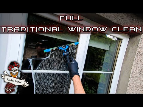 FULL TRADITIONAL WINDOW CLEAN - TUTORIAL (NO MUSIC)