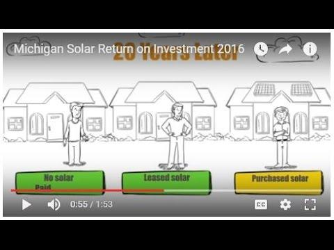 Michigan Solar Return on Investment 2016