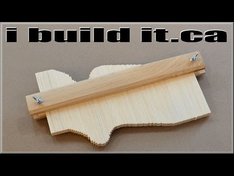 Making A Wooden Contour Gauge