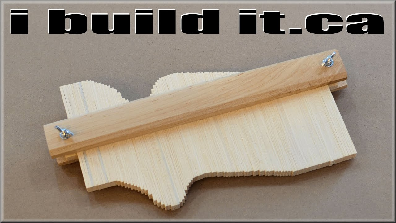 Making A Wooden Contour Gauge Youtube
