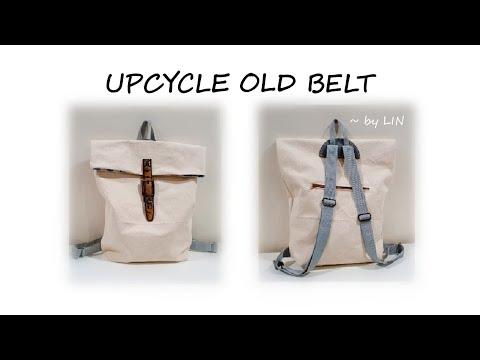 UPCYCLE OLD BELT INTO STYLISH BACKPACK 【CANVAS BAG TUTORIAL】#HandyMum