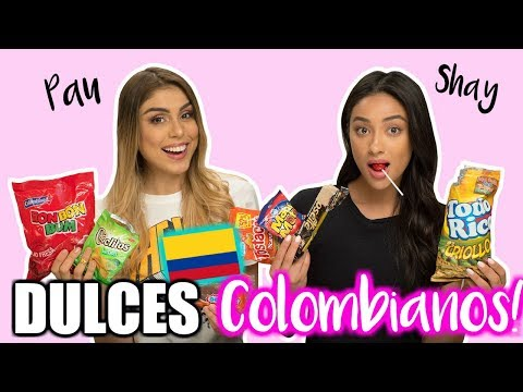 PROBANDO DULCES COLOMBIANOS! ft. Shay Mitchell !  Pautips