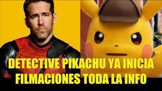 Detective Pikachu Ya Inicia Filmaciones con Ryan Reynolds Toda la Información 2018