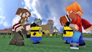 Minecraft: GUERRA COM MINIONS! #1 (c/ Wolff, Miss e Pokey) - Lucky Block