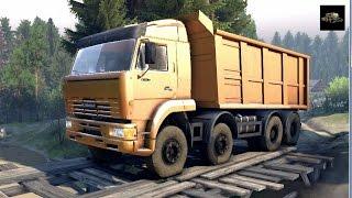 SPINTIRES 2014 - 8x4 Dump Truck Transporting Rocks