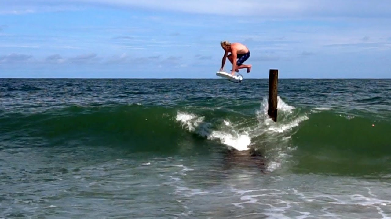 Boy Surfing Drop In Myrtle Beach