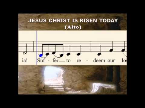N03b Jesus Christ is Risen Today - Song for Easter (Alto)