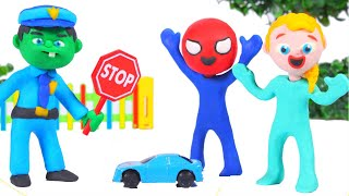 Baby Police Stops The Remote Control Car ❤ Cartoons For Kids