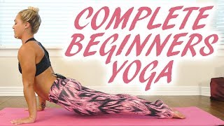 Gentle Yoga for the Inflexible with Krystin ♥ 12 Minute Class, Complete Beginner, How to, Back Pain