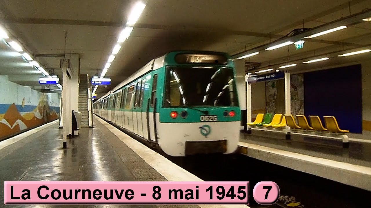 La courneuve 8 mai 1945 ligne 7 m tro de paris for Salon a porte de la villette
