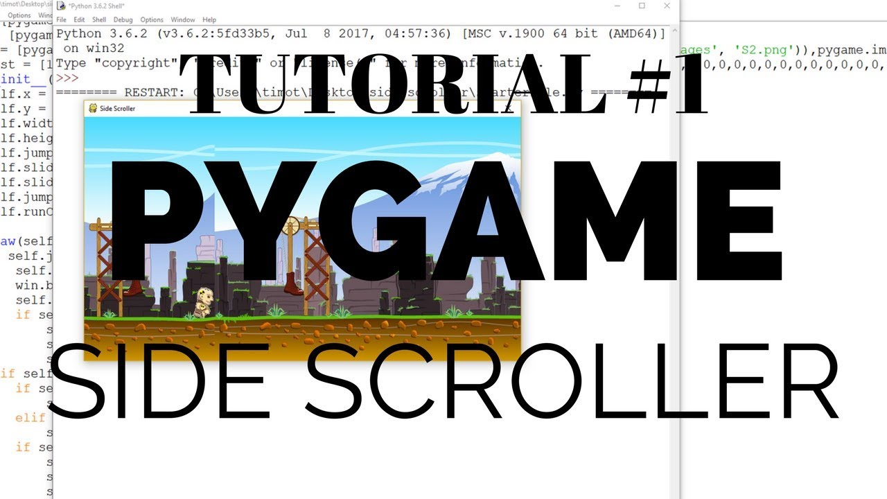 Pygame Tutorial - Scrolling Background & Character Movement