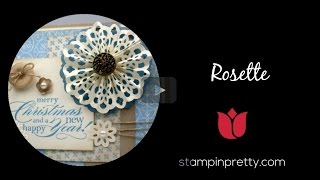 Stampin' Pretty Tutorial:  How to Create a Simply Scored Snowflake Rosette